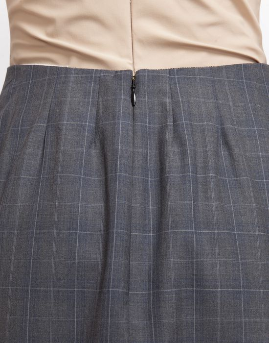 MAISON MARGIELA Look 27: Wool Check Skirt Knee length skirt D a