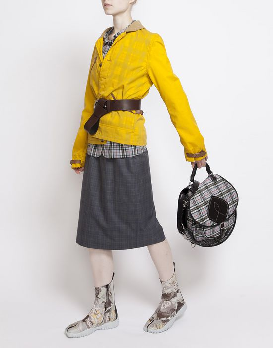 MAISON MARGIELA Look 27: Wool Check Skirt Knee length skirt D d