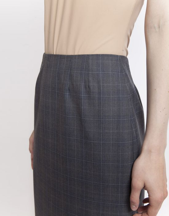 MAISON MARGIELA Look 27: Wool Check Skirt Knee length skirt D e