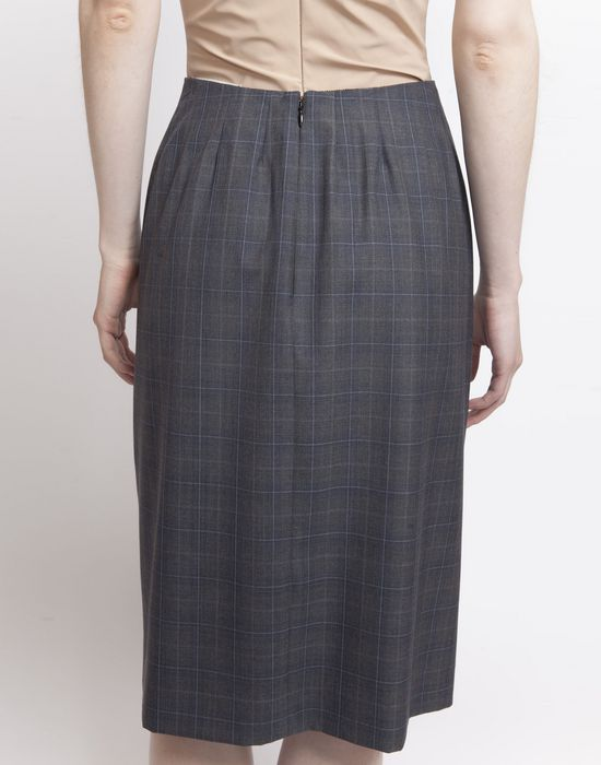 MAISON MARGIELA Look 27: Wool Check Skirt Knee length skirt D r