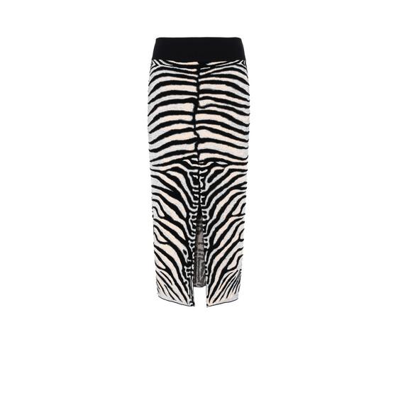 Zebra Jacquard Skirt