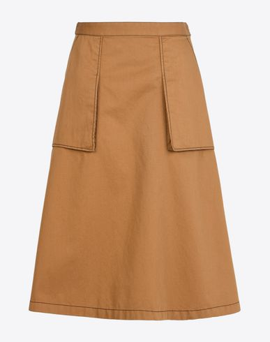 MAISON MARGIELA 1 3/4 length skirt D Flared skirt with topstitching details f