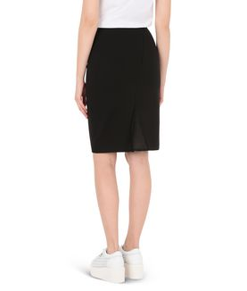 KARL LAGERFELD PUNTO & MESH PENCIL SKIRT