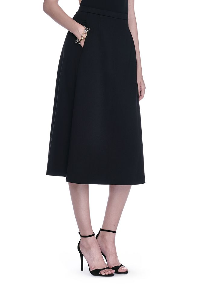 T by ALEXANDER WANG JUPES Femme A-LINE MIDI SKIRT