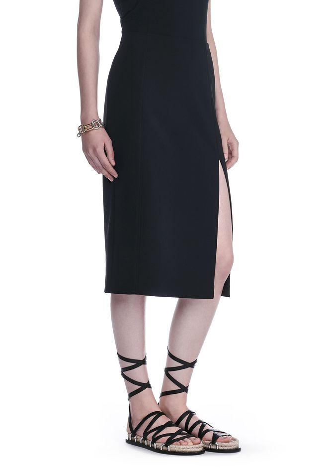 T by ALEXANDER WANG SKIRTS Women PENCIL MIDI SKIRT WITH SLIT