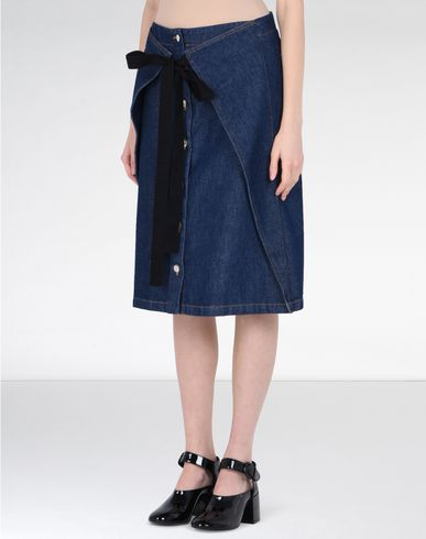MM6 by MAISON MARGIELA Denim skirt D Midi-length denim skirt f