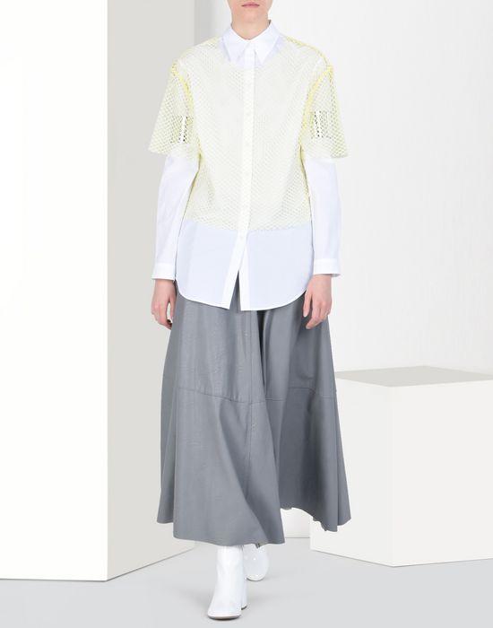 Maison Margiela Long Flared Skirt In Fake Leather Women | Online ...