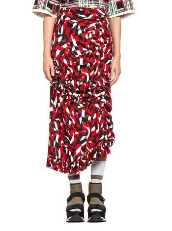 Marni Skirt in silk crepe Shatter print Woman