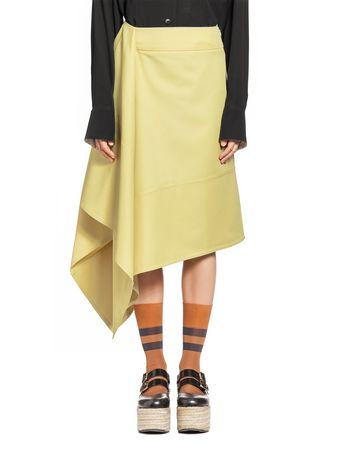 Marni Asymmetric skirt in techno gabardine Woman
