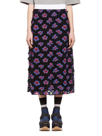 Marni Skirt in 3D floral macramé Woman