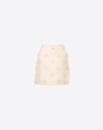 VALENTINO Embroidered Crepe Couture Skirt 35315179RM