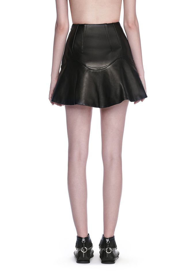 HIGH WAISTED LEATHER MINI SKIRT | SKIRT | Alexander Wang Official Site