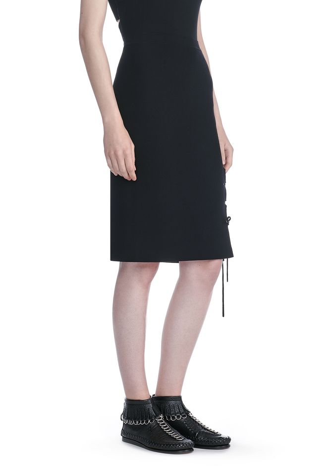ALEXANDER WANG maille-pret-a-porter-femme PENCIL SKIRT WITH SIDE SLIT LACING