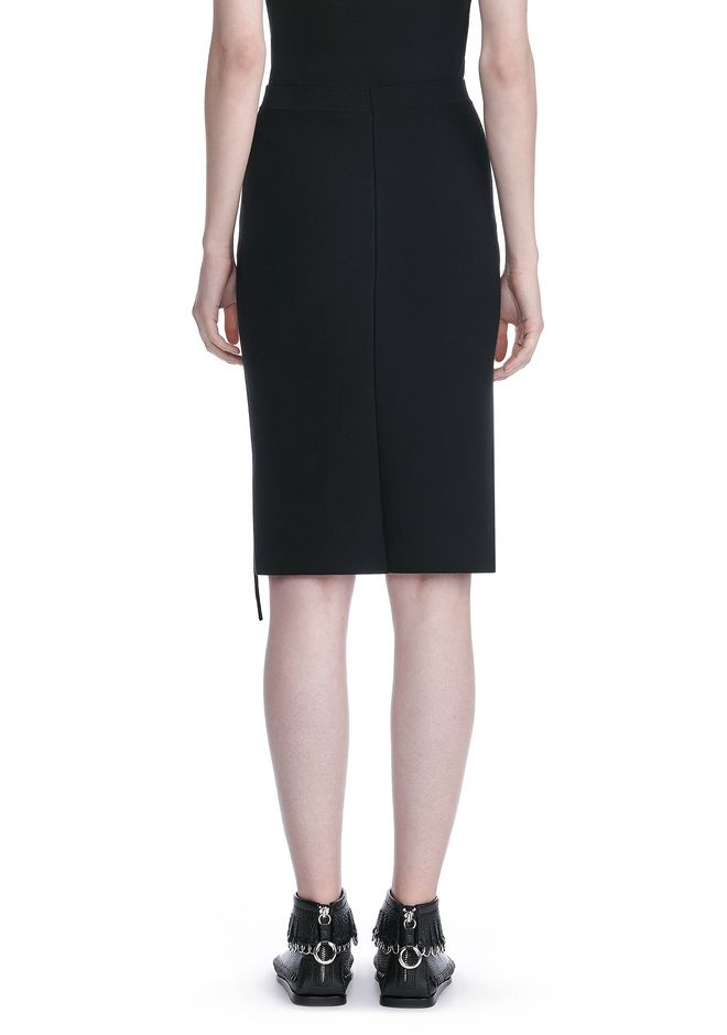 ALEXANDER WANG PENCIL SKIRT WITH SIDE SLIT LACING SKIRT Adult 12_n_a