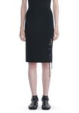 ALEXANDER WANG PENCIL SKIRT WITH SIDE SLIT LACING SKIRT Adult 8_n_d