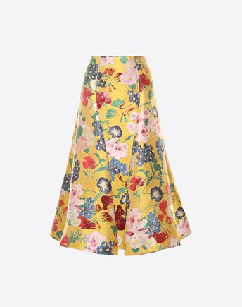 VALENTINO Romantic Flowers Brocade Skirt 35317252CU
