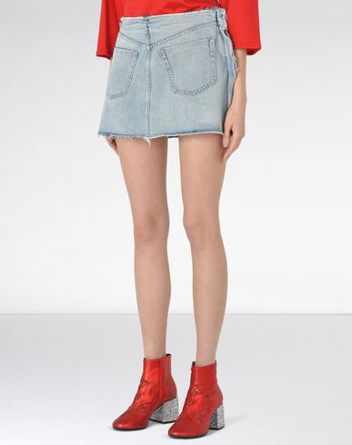 MM6 by MAISON MARGIELA Denim skirt D Denim mini skirt f