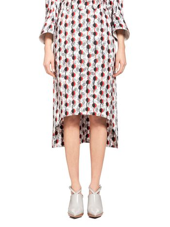 Marni Runway skirt in coated poplin Garland Woman
