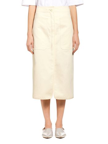 Marni Runway skirt in cotton-and-linen drill Woman