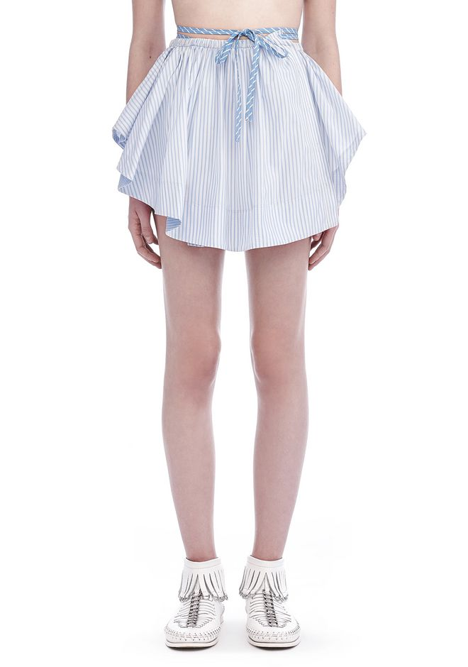ALEXANDER WANG ASYMMETRIC SHIRTTAIL WRAP SKIRT WITH DRAW CORD SKIRT Adult 12_n_d