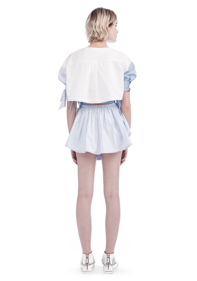 ALEXANDER WANG ASYMMETRIC SHIRTTAIL WRAP SKIRT WITH DRAW CORD SKIRT Adult 12_n_r