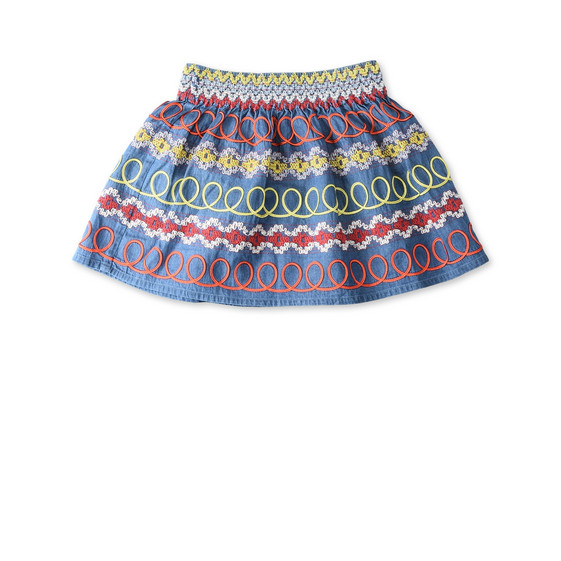 Embroidered Nat Skirt