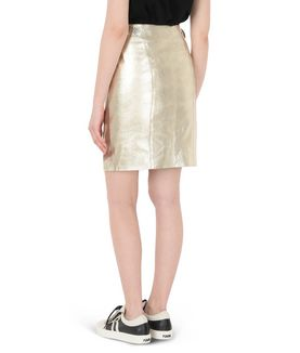 KARL LAGERFELD GOLD LEATHER SKIRT