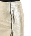 KARL LAGERFELD Gold Leather Skirt 8_e
