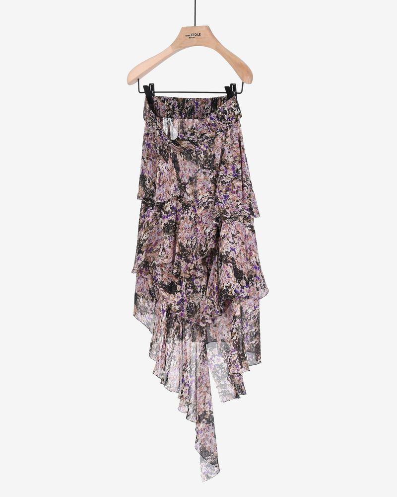 Jeezon Floral print asymmetric ruffle skirt ISABEL MARANT ÉTOILE