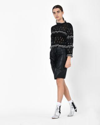 ISABEL MARANT ÉTOILE SHORT SKIRT Woman Zephi Faux leather ruched skirt r