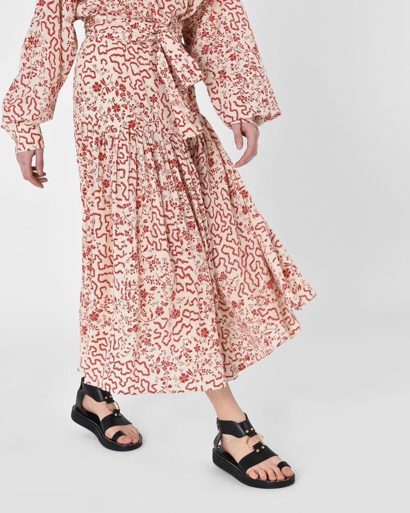 13ee74df6 ... Grifol Asymmetric printed silk wrap maxi skirt ISABEL MARANT ...