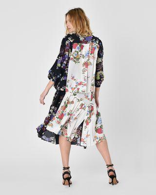 ISABEL MARANT MIDI SKIRT D Inaya Asymmetric silk crepe de chine maxi skirt in floral print r