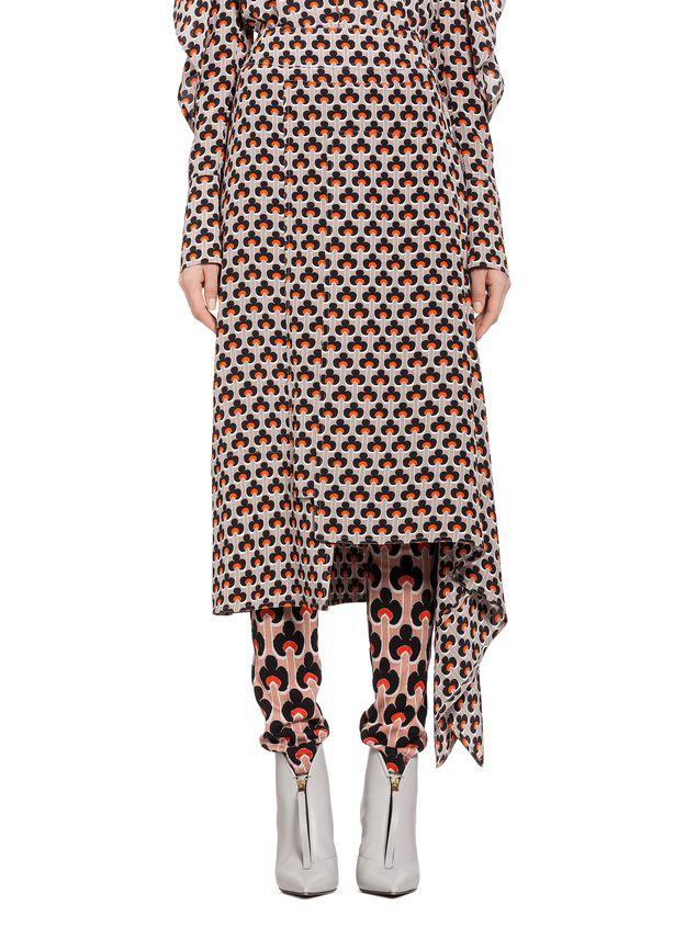 Marni Silk skirt Portrait print Woman - 1
