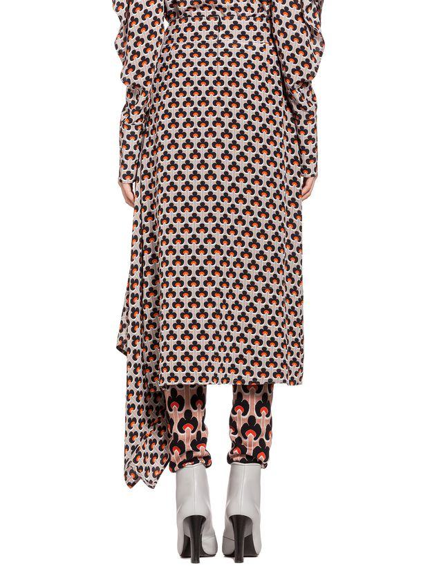 Marni Silk skirt Portrait print Woman - 3