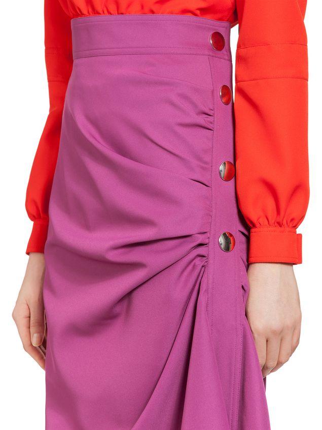 Marni Puckered skirt in techno gabardine Woman - 4