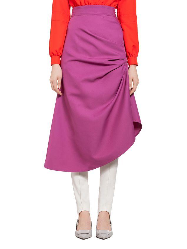 Marni Puckered skirt in techno gabardine Woman - 1