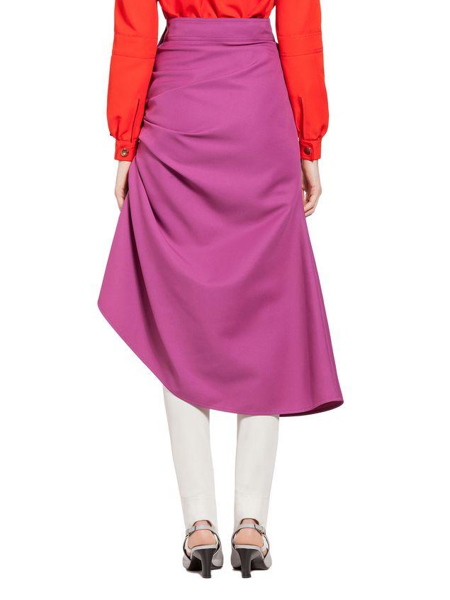 Marni Puckered skirt in techno gabardine Woman - 3