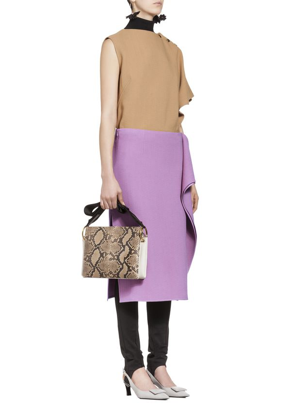 Marni Flouced skirt in cotton viscose Woman - 5