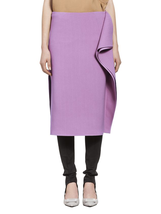Marni Flouced skirt in cotton viscose Woman - 1