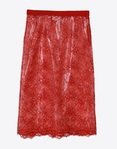 MAISON MARGIELA Knee length skirt D Transparent lace pencil skirt f