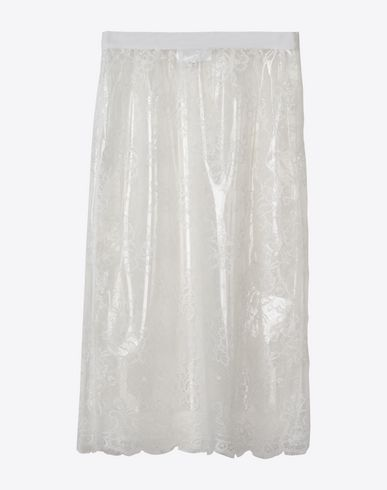 MAISON MARGIELA Transparent lace pencil skirt Knee length skirt D f