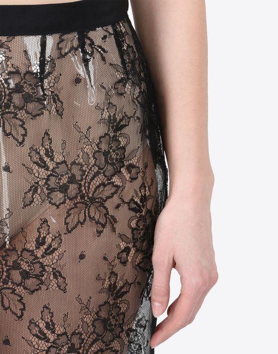 MAISON MARGIELA Transparent lace pencil skirt Knee length skirt Woman a