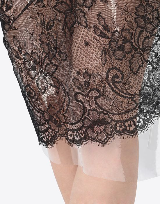 MAISON MARGIELA Transparent lace pencil skirt Knee length skirt D b