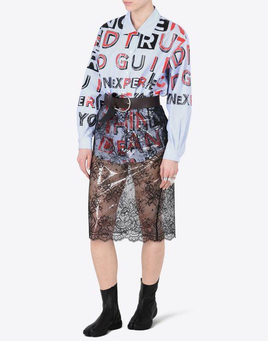 MAISON MARGIELA Transparent lace pencil skirt Knee length skirt Woman d