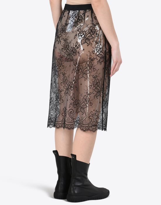 MAISON MARGIELA Transparent lace pencil skirt Knee length skirt D e