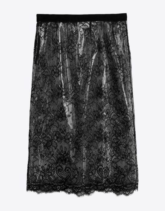 MAISON MARGIELA Transparent lace pencil skirt Knee length skirt D f