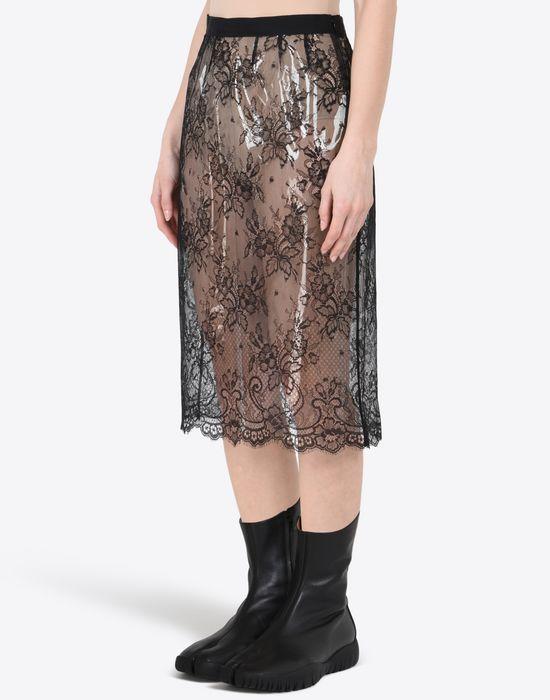MAISON MARGIELA Transparent lace pencil skirt Knee length skirt Woman r