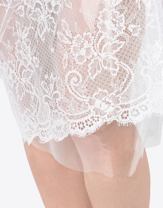 MAISON MARGIELA Transparent lace pencil skirt Knee length skirt D b