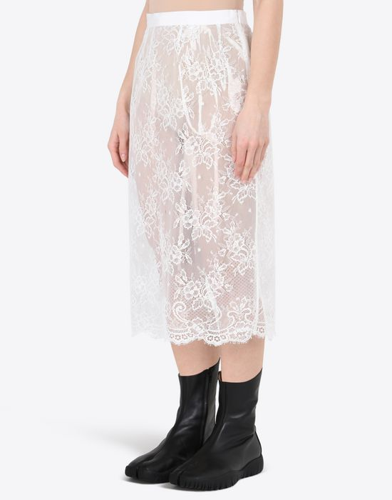 MAISON MARGIELA Transparent lace pencil skirt Knee length skirt D r