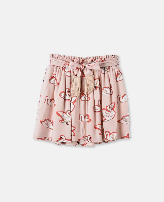 Myrtle Swan Print skirt